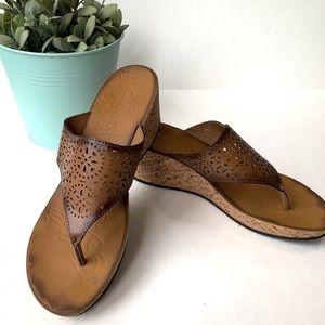 Clarks Cork Wedge Sandals Size 9.5**